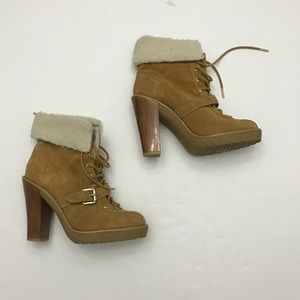 Michael Kors suede lace up boots size 9
